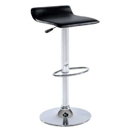 High Bar Stool with gas lift Black